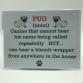 Novelty Sign Pug noun