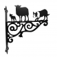 Border Collie & Sheep Ornamental Bracket