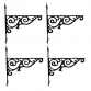 Ornamental Hanging Bracket - Four Pack