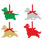 Cocker Spaniel Tree Decorations (set of 4)