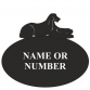 Afghan Hound Oval House Plaque