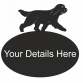 Bearded Collie Oval House Plaque