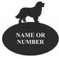 Bernese Mountain Dog Oval House Plaque
