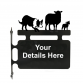 Border Collie & Sheep Hanging Sign