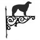 Borzoi Ornamental Hanging Bracket