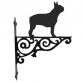 Boston Terrier Ornamental Hanging Bracket
