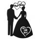 Bride & Groom Wedding Wall Art