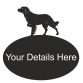 Brittany Spaniel Oval House Plaque