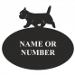 Cairn Terrier Oval House Plaque