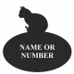 Cat Oval House Plaque