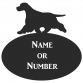 Cocker Spaniel Oval House Plaque