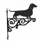 Dachshund Smooth Haired Ornamental Hanging Bracket