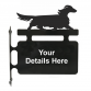 Dachshund Long Haired Hanging Sign