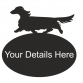 Dachshund Long Haired Oval House Plaque