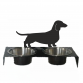 Dachshund Smooth Pet Bowl Stand