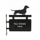 Dachshund Smooth Haired Hanging Sign