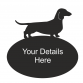 Dachshund Smooth Haired Oval House Plaque