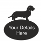 Dachshund Wire Haired Oval House Plaque
