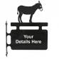 Donkey Hanging Sign