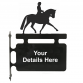 Dressage Horse Hanging Sign