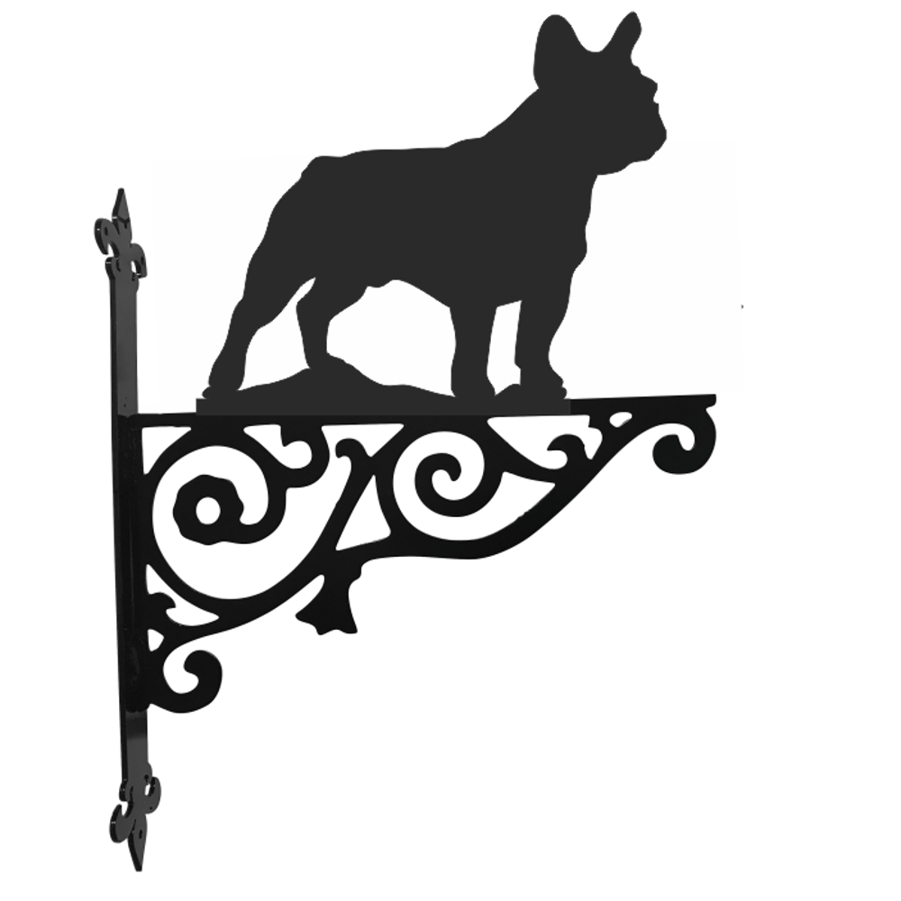 French Bulldog Metal Oval House Plaque