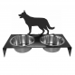 German Shepherd Dog Bowl Stand