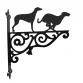 Greyhounds Ornamental Hanging Bracket