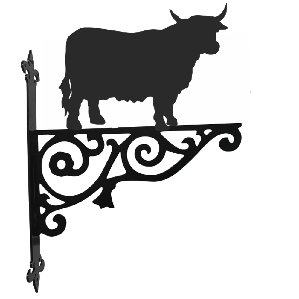 Highland Cow Ornamental Hanging Bracket