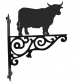 Highland Cow Ornamental Hanging Bracket