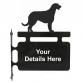 Irish Wolfhound Hanging Sign