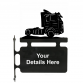 Lorry Personalised Hanging House Sign