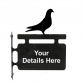 Pigeon Personalised Hanging House Sign