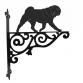 Pug Ornamental Hanging Bracket