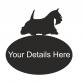 Scottie Dog Oval House Plaque