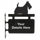 Scottish Terrier Hanging Sign