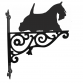 Scottish Terrier on the move Ornamental Hanging Bracket