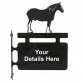 Shire Horse Hanging Sign