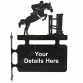 Horse Show Jumping Hanging Sign