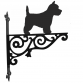 West Highland White Terrier Ornamental Hanging Bracket