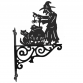 Witch and Couldron Ornamental Hanging Bracket