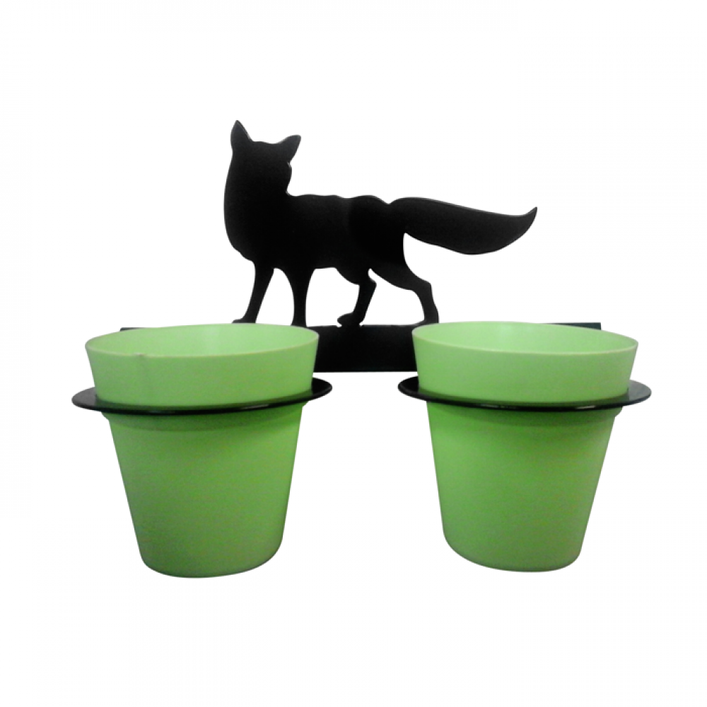 Fox 2 Pot Wall Planter