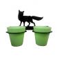 Fox 2 Pot Wall Planter