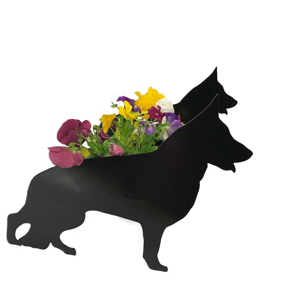 German Shepherd Dog Garden Planter Alsatian Flower Pot