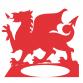 Welsh Dragon Single Pot Wall Planter