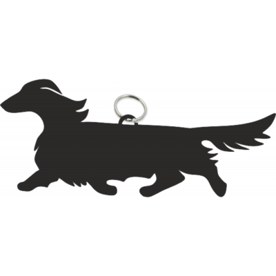 dachshund wire haired key ring fob