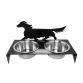 Dachshund Long Haired Bowl Stand