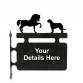 Horse and Irish Wolfhound Hanging Sign