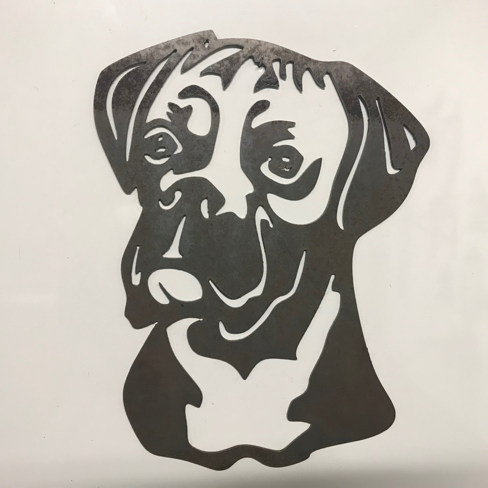Boxer Dog Head Metal Wall Art Items Picture Image