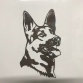 German Shepherd Head Wall Art