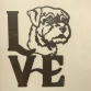 Border Terrier LOVE Wall Art